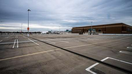 Empty parking lots at Roosevelt Field mall in