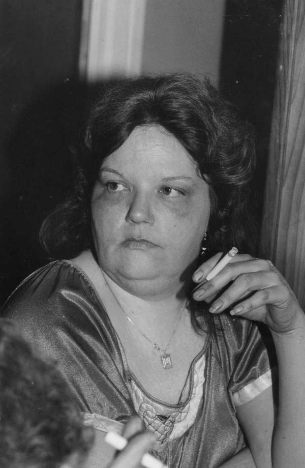Linda Inghilleri, Katie Beer's godmother, smoking. (Feb. 2,