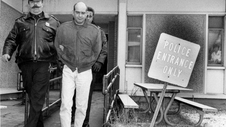 Kidnap suspect John Esposito leaves the 4th Precinct