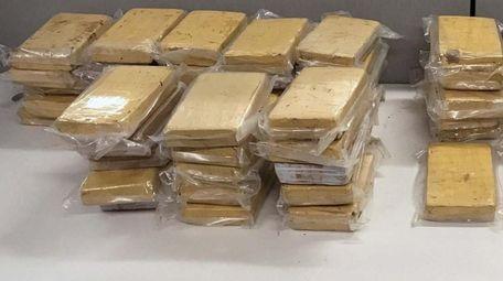 Investigators seized 70 kilograms of cocaine during a