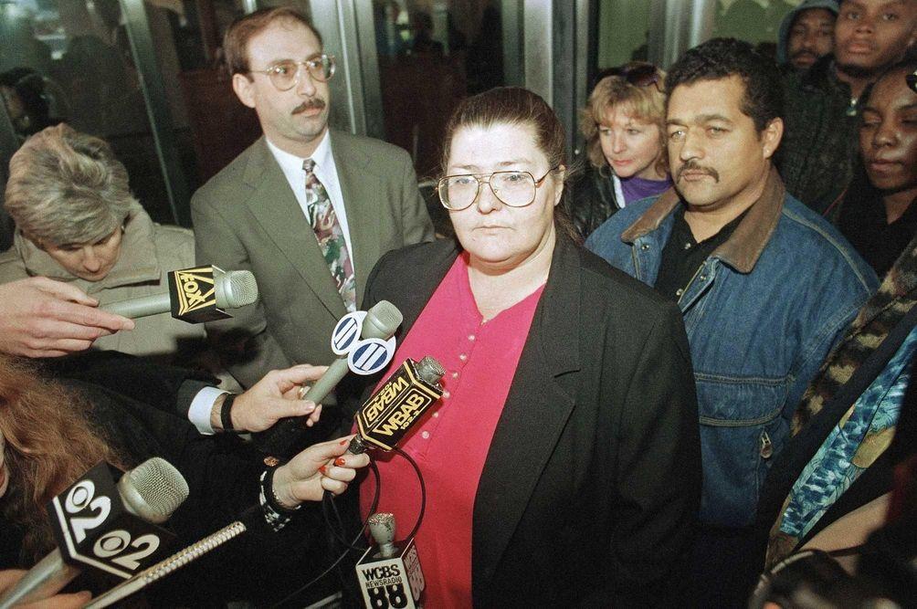 Marilyn Beers, mother of 10-year-old Katie Beers, faces