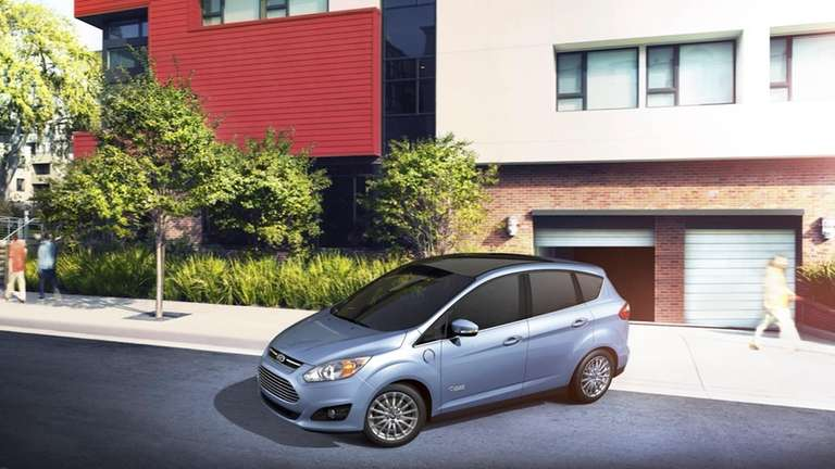 The 2013 Ford C-Max Energi plug-in hybrid is