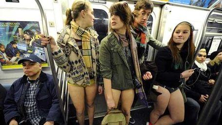 2012 No Pants Subway Ride. (Getty)
