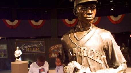 Visitors test their Negro Leagues Baseball knowledge at