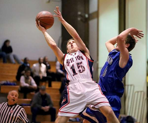 Smithtown West's Ryan Hickey puts up an off-balance