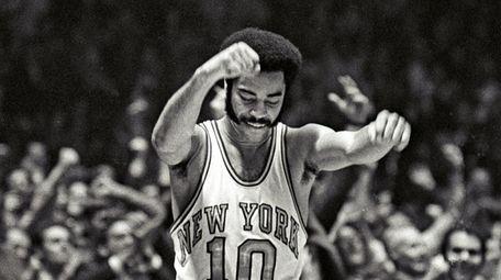 "The Knicks' Walt ""Clyde"" Frazier scored 36 points"