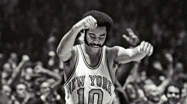 "The Knicks' Walt ""Clyde"" Frazier scored 36 points"