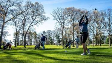 Sayville High School boys varsity golf coach Sean McLaughlin talks