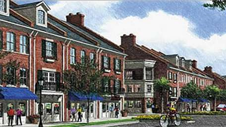 An artist renderings created to inspire Brookhaven residents,