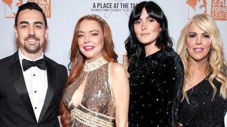 Michael Lohan Jr., left, Lindsay Lohan, Aliana Lohan