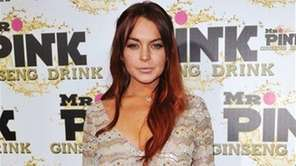 Lindsay Lohan attends the Mr. Pink Ginseng launch