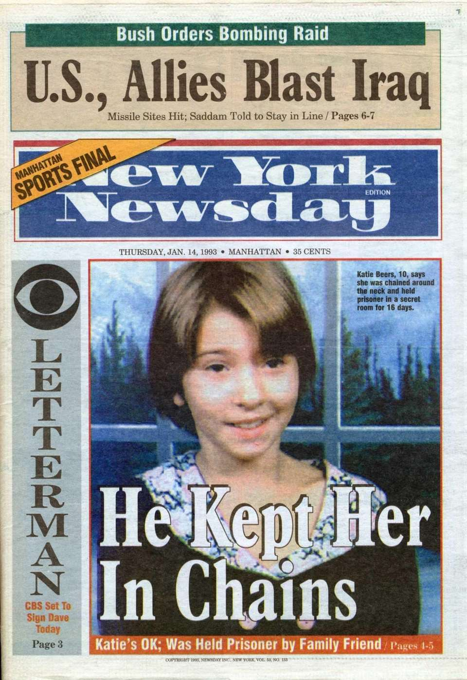 New York Newsday covers Katie Beers:
