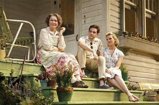 From left, Ellen Burstyn, Ben Rappaport and Maggie