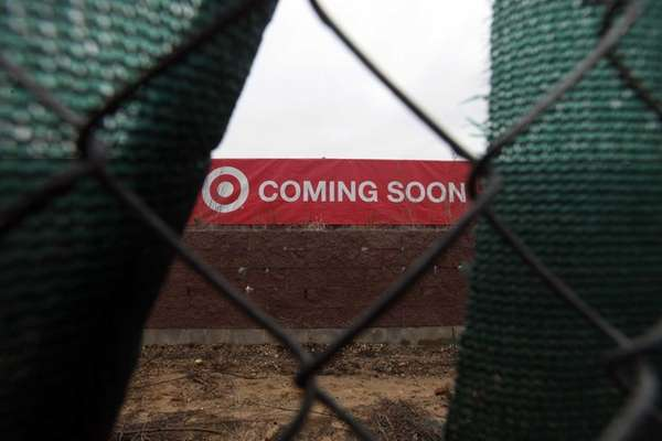 The future site of Target is pictured near