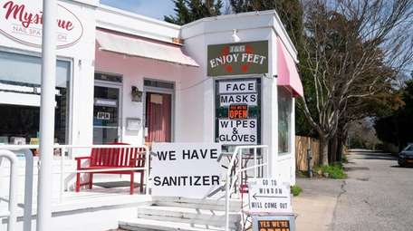 A shop in East Hampton Village selling face