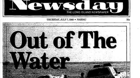 Newsday's coverage of the medical waste crisis, July