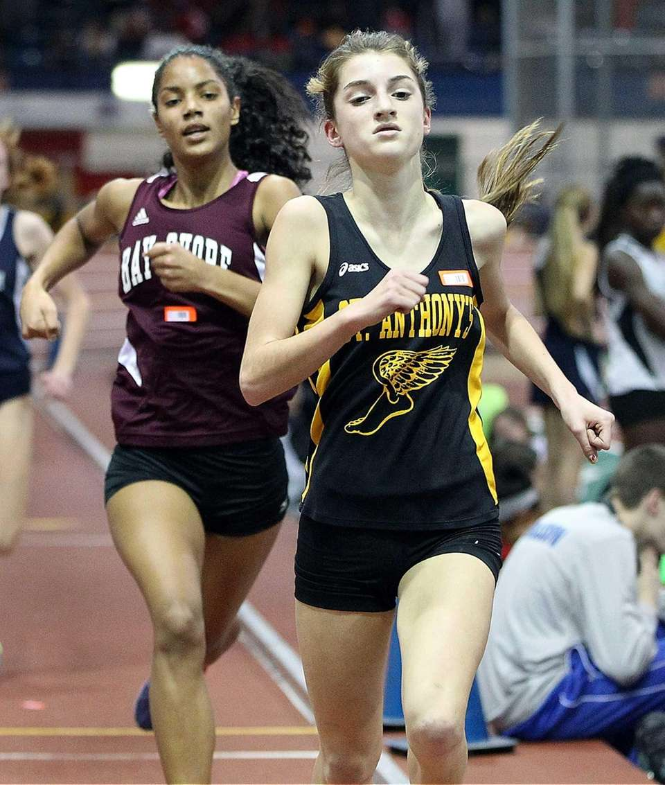 St. Anthony's Gianna Mincone competes in the girls