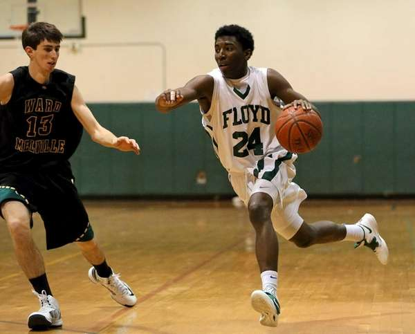 Floyd's Devin Burney drives the outside as Ward