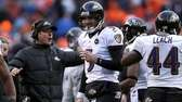 Baltimore Ravens quarterback Joe Flacco and head coach