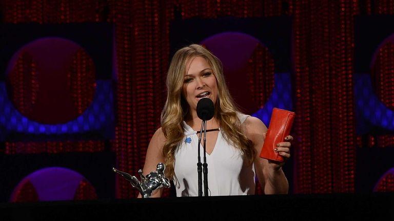 Female Fighter of the Year award winner Ronda