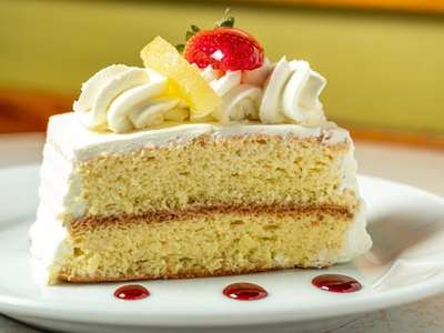 A Tres Leches cake at the Chilean Bakery