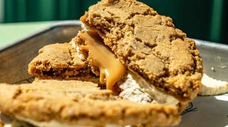 Salted caramel toffee cookie pies at Broadway Market