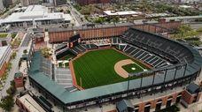 Camden Yards baseball stadium, home of the Baltimore