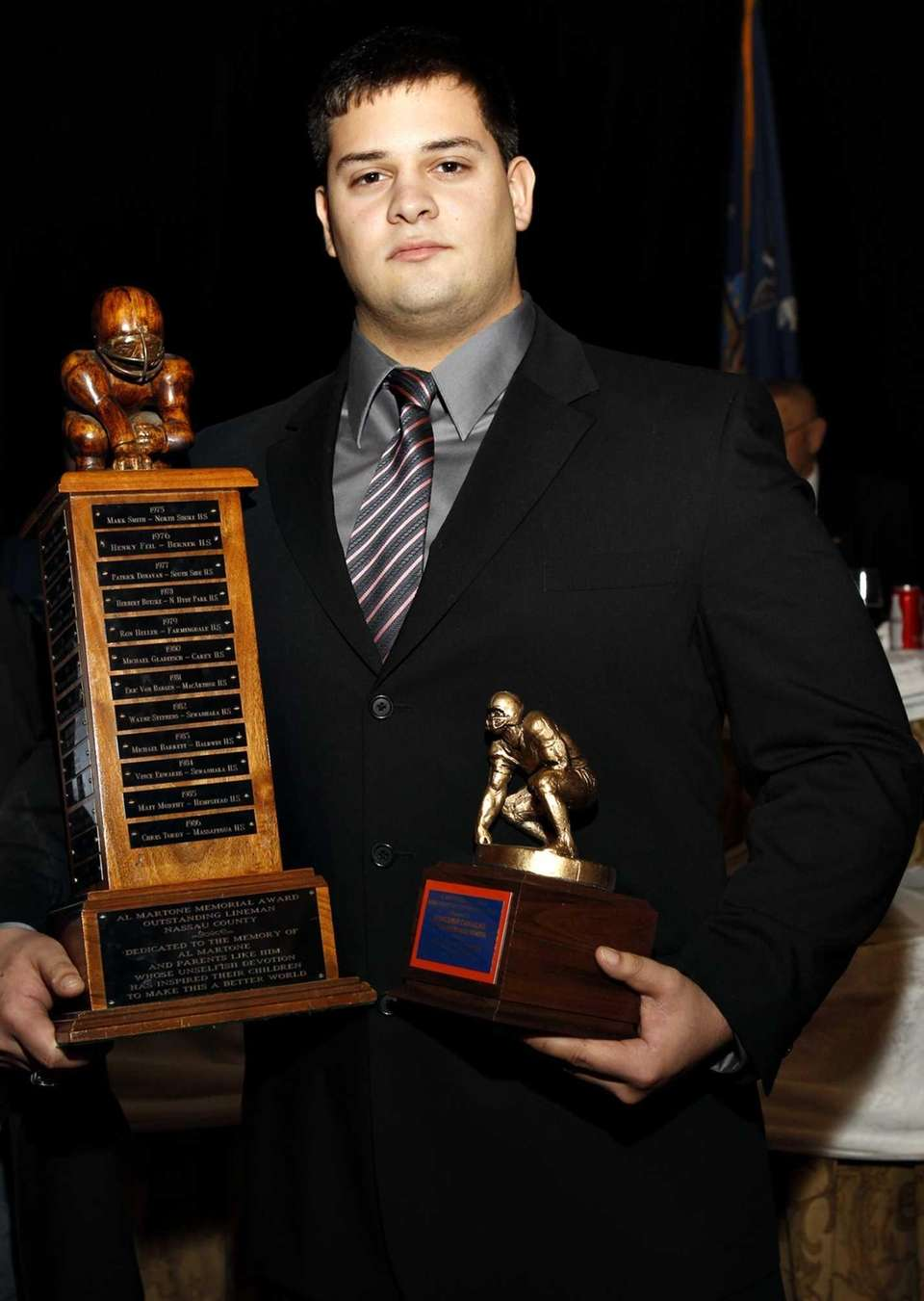 The 2012 Mattone Award for most outstanding lineman