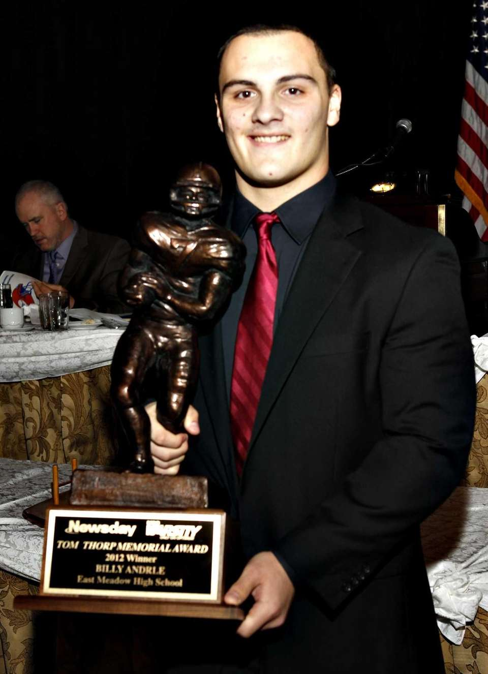 The 2012 Thorp Award winner for most outstanding