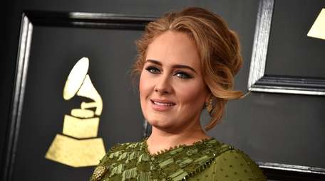 Adele attends the Grammy Awards in Los Angeles