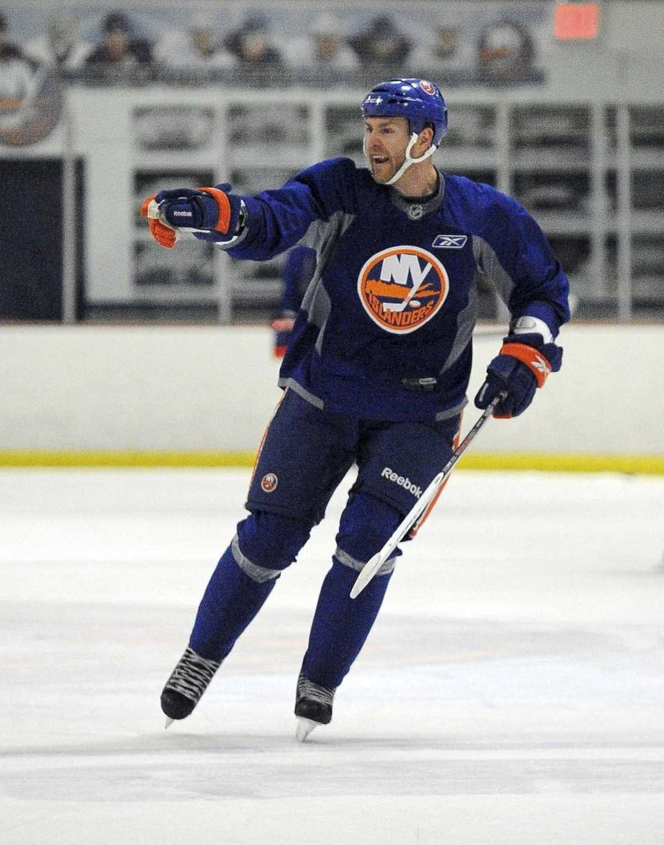 Matt Carkner skates during the New York Islanders