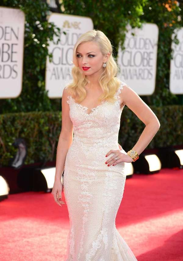 Golden Globe Francesca Eastwood arrives for the Golden