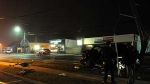 The scene of a deadly crash in which