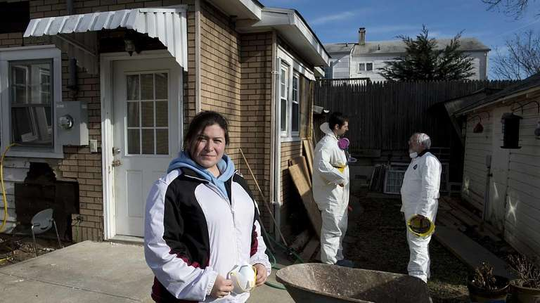 Superstorm Sandy flooded the Oceanside home of Christina