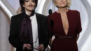 From left, co-hosts Tina Fey and Amy Poehler