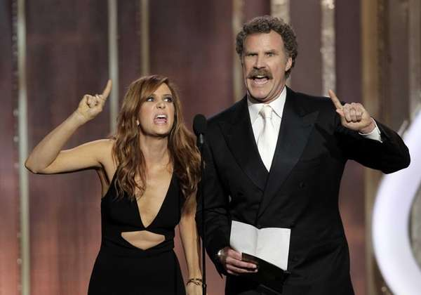 Kristen Wiig and Will Ferrell during the 70th