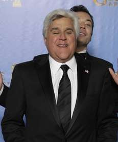 From left, Jay Leno and Jimmy Fallon, now