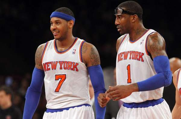 Carmelo Anthony, left, and Amar'e Stoudemire of the