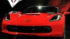 The 2014 Chevrolet Corvette Stingray is displayed after