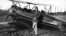 Nancy Love trained or flew into Roosevelt Field,