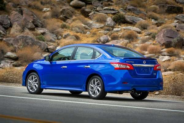 The 2013 Nissan Sentra appears to be a