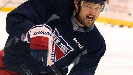 Rick Nash skates during the Rangers' second day