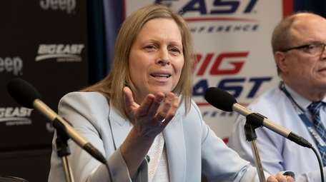 Big East Conference Commissioner Val Ackerman speaks to