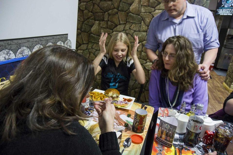 Julia Santaniello, 10, from Bay Shore, plays Zombie
