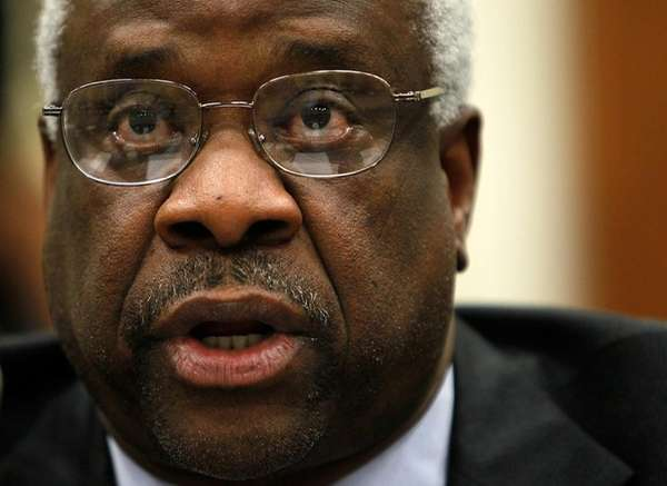 U.S. Supreme Court Justice Clarence Thomas testifies during