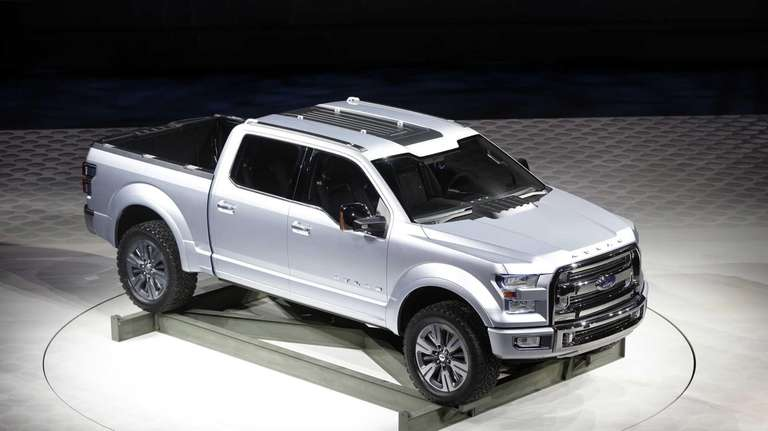 The Ford Atlas concept pickup, unveiled at the