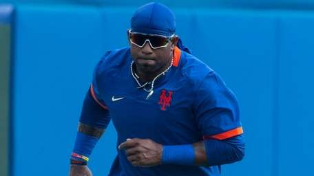 Mets outfielder Yoenis Cespedes during a spring training