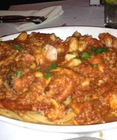 Lobster fra diavolo at Mio Posto restaurant in