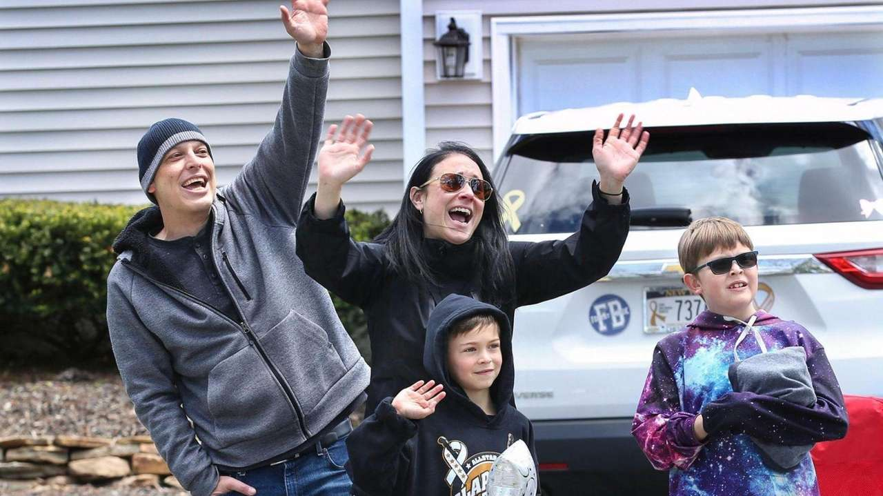 Hundreds of people helped Ryan Starace celebrate his