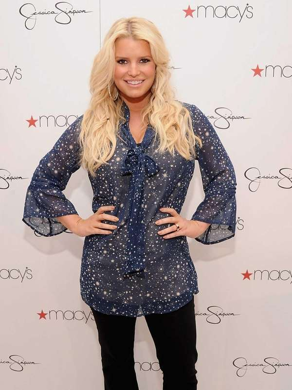 Jessica Simpson visits Macy's South Coast Plaza in